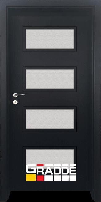 Интериорна HDF врата, модел Gradde Blomendal, Орех Рибейра