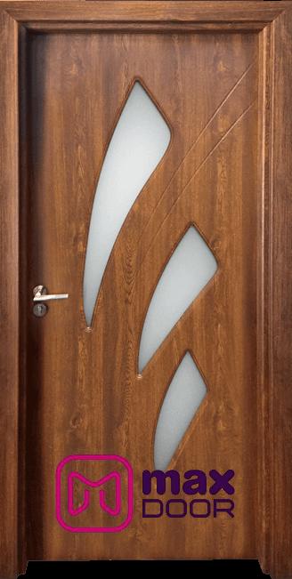 Стъклена интериорна врата Гама 202, цвят Златен дъб