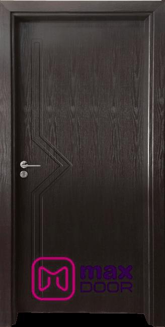 Стъклена интериорна врата Гама 201p, цвят Венге