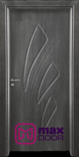 Стъклена интериорна врата Гама 202p, цвят Сив кестен