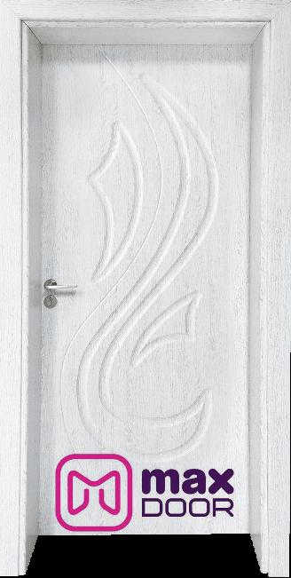 Стъклена интериорна врата Гама 203p, цвят Бреза