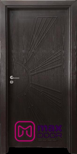 Стъклена интериорна врата Гама 204p, цвят Венге