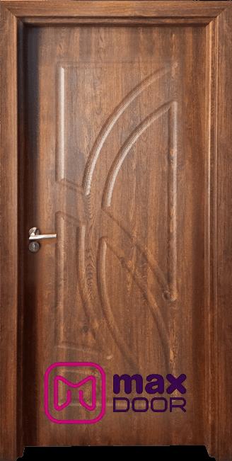 Стъклена интериорна врата Гама 208p, цвят Златен дъб